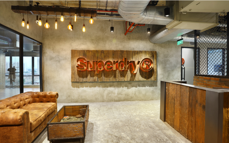 Corporate office design by Space Matrix for Superdry