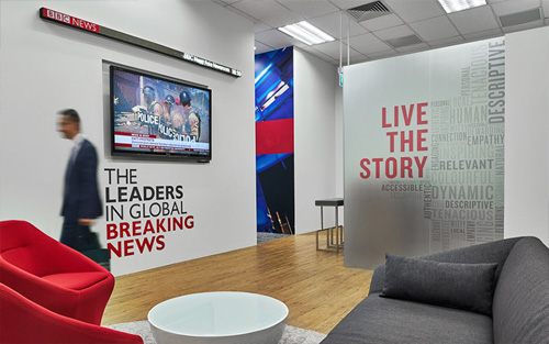 BBC's office interior design by Space Matrix