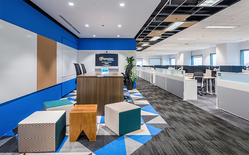 Symantec's office design by Space Matrix