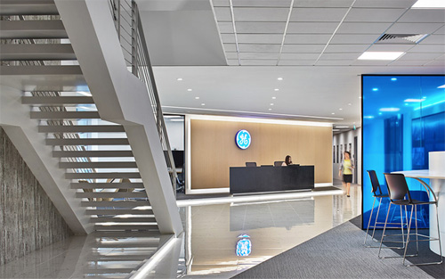 Creative office design by Space Matrix for General Electric