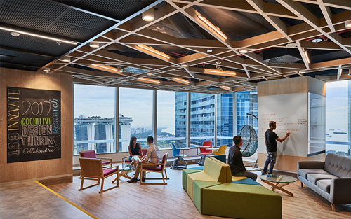 ... Corporate Interior Design By Space Matrix For IBM