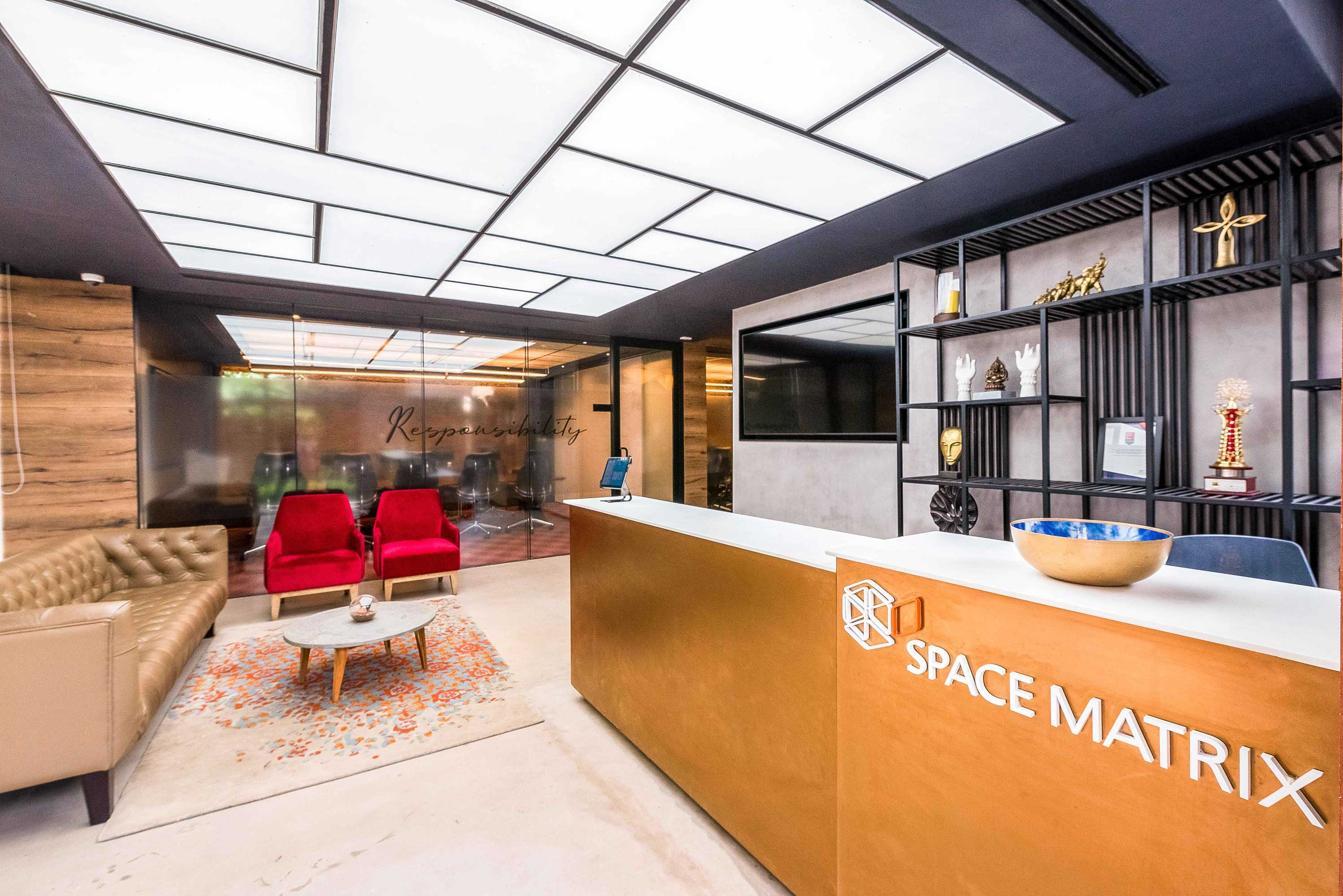 Space Matrix Bangalore leverages the latest corporate office design ideas to build its own workspace