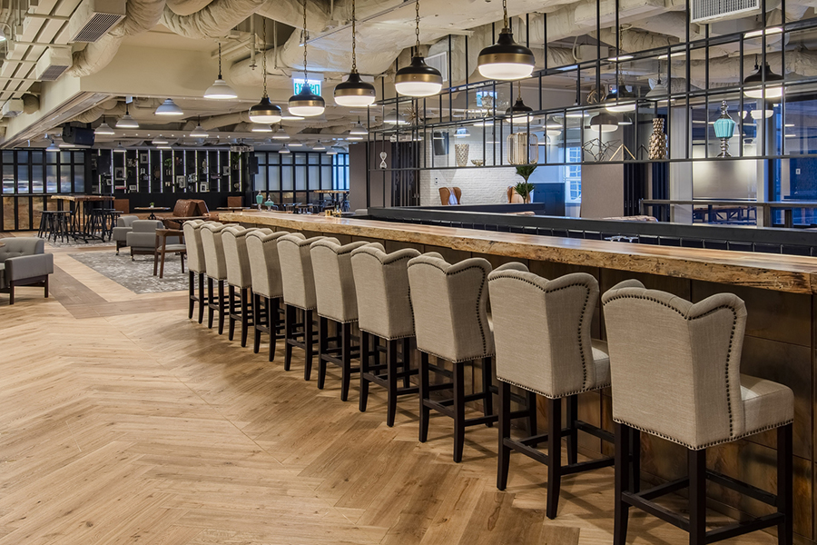Creative office design for work and leisure at Eaton Club