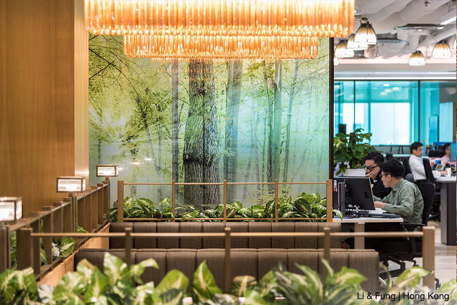 Biophilic corporate office design by Space Matrix