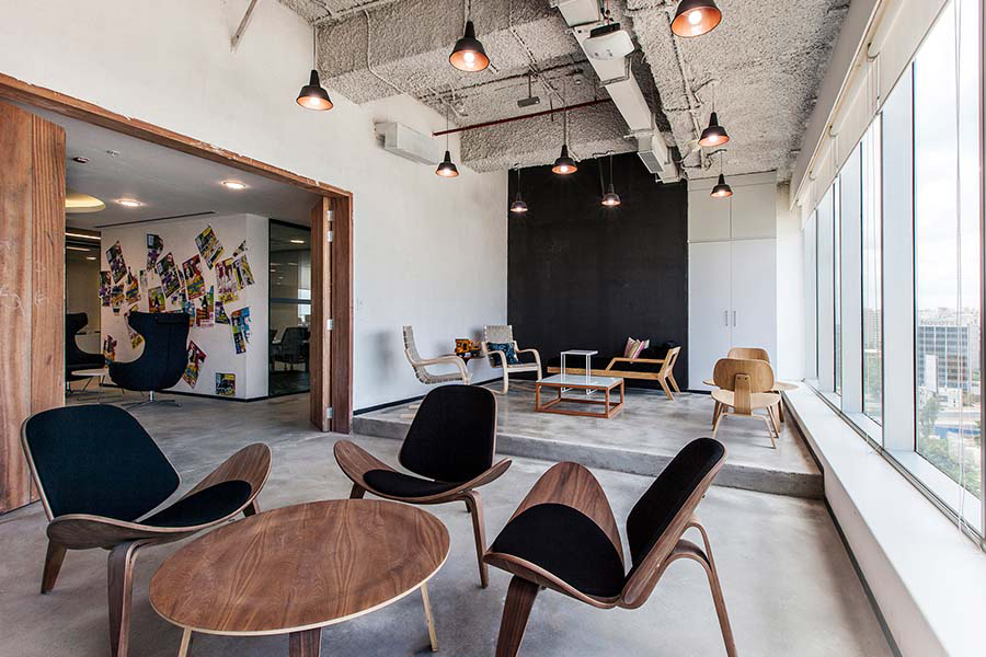 Co-working office design by Space Matrix