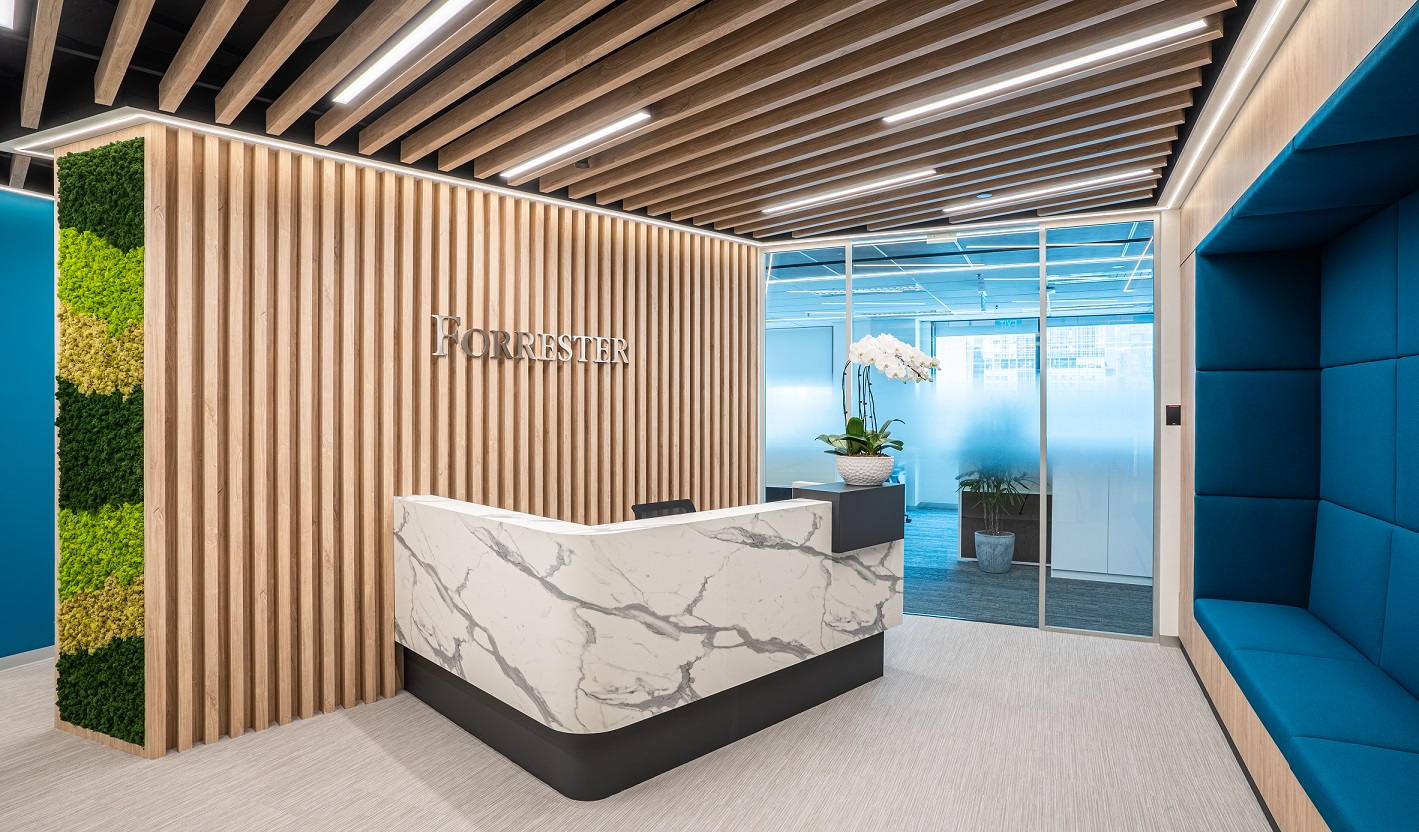 Forrester Singapore has updated its office design for the 2020s