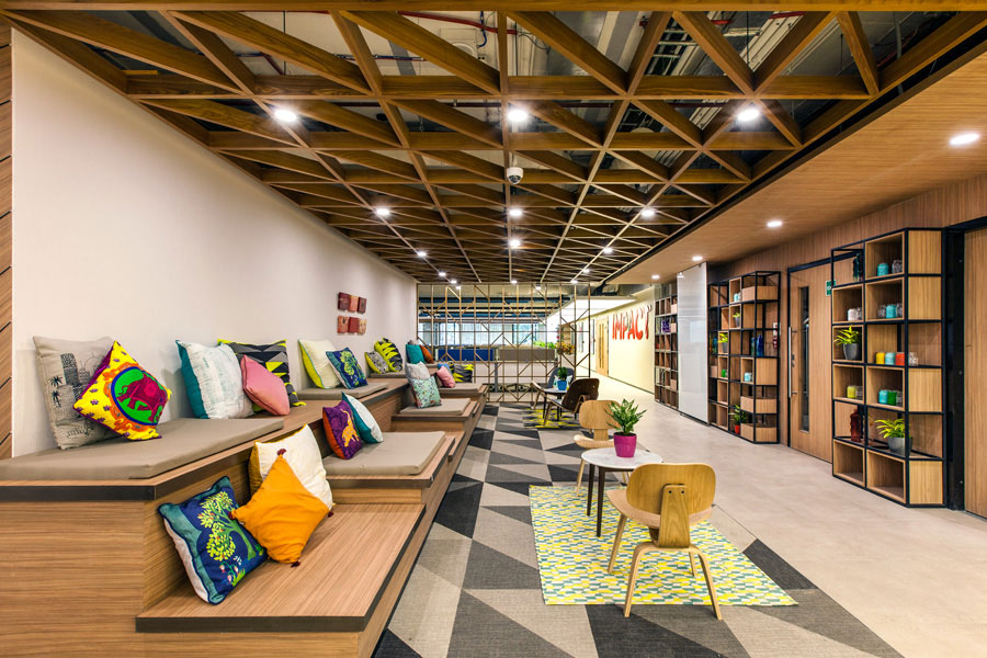 Cosy office design for Piramal Group in Mumbai