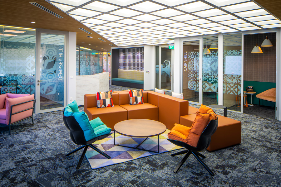Modern office design for ServiceNow by Space Matrix