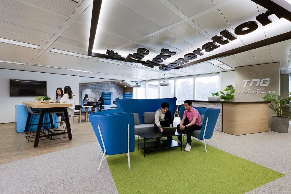 Space Matrix created a unique combined workspace for TNG Fintech Group Hong Kong
