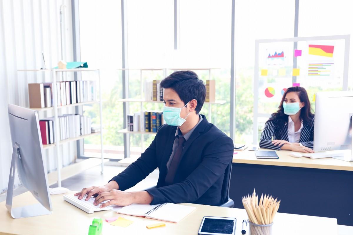 post-coronavirus work space