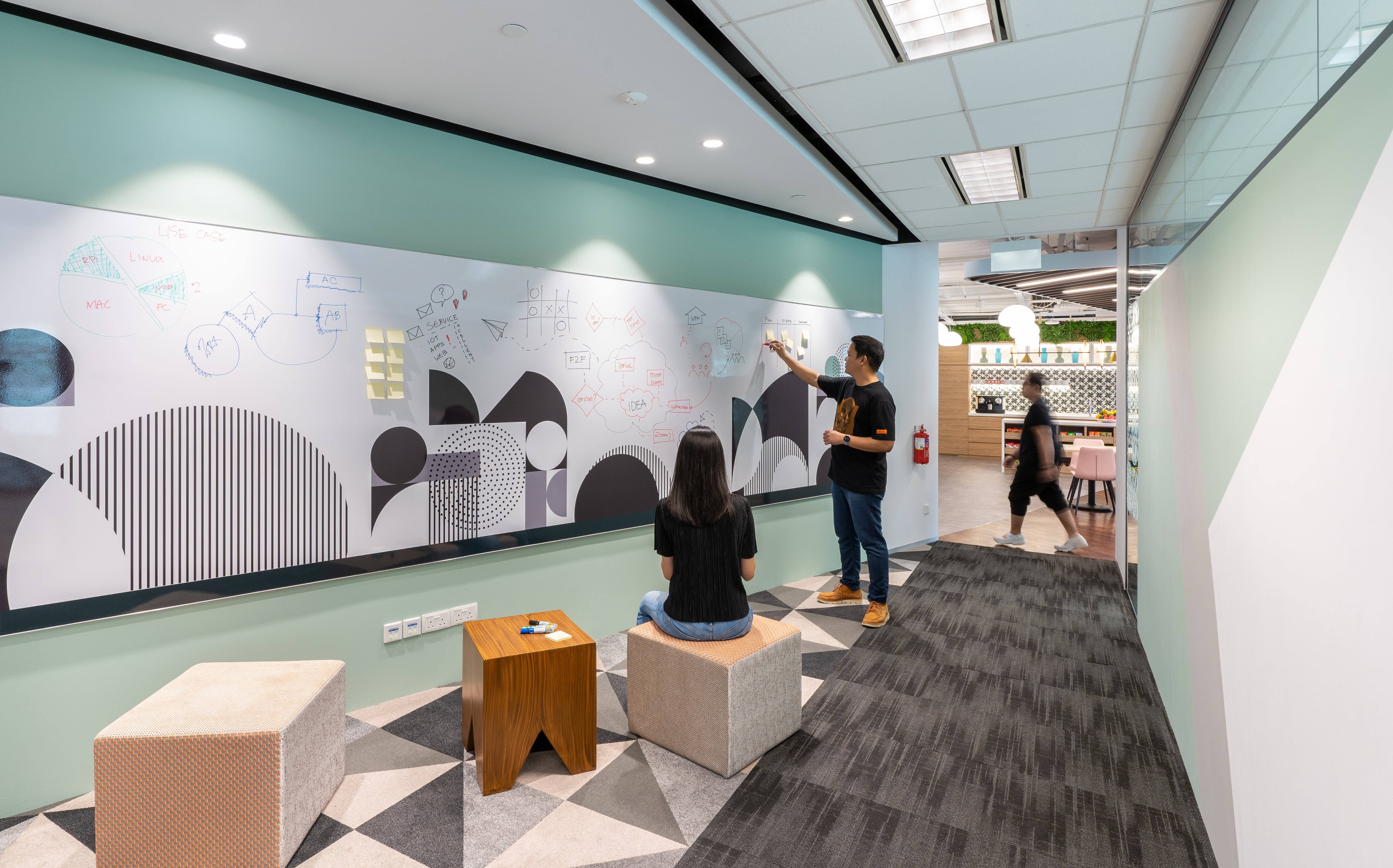 Space Matrix designed human moments into the workplace for an international tech firm in Singapore