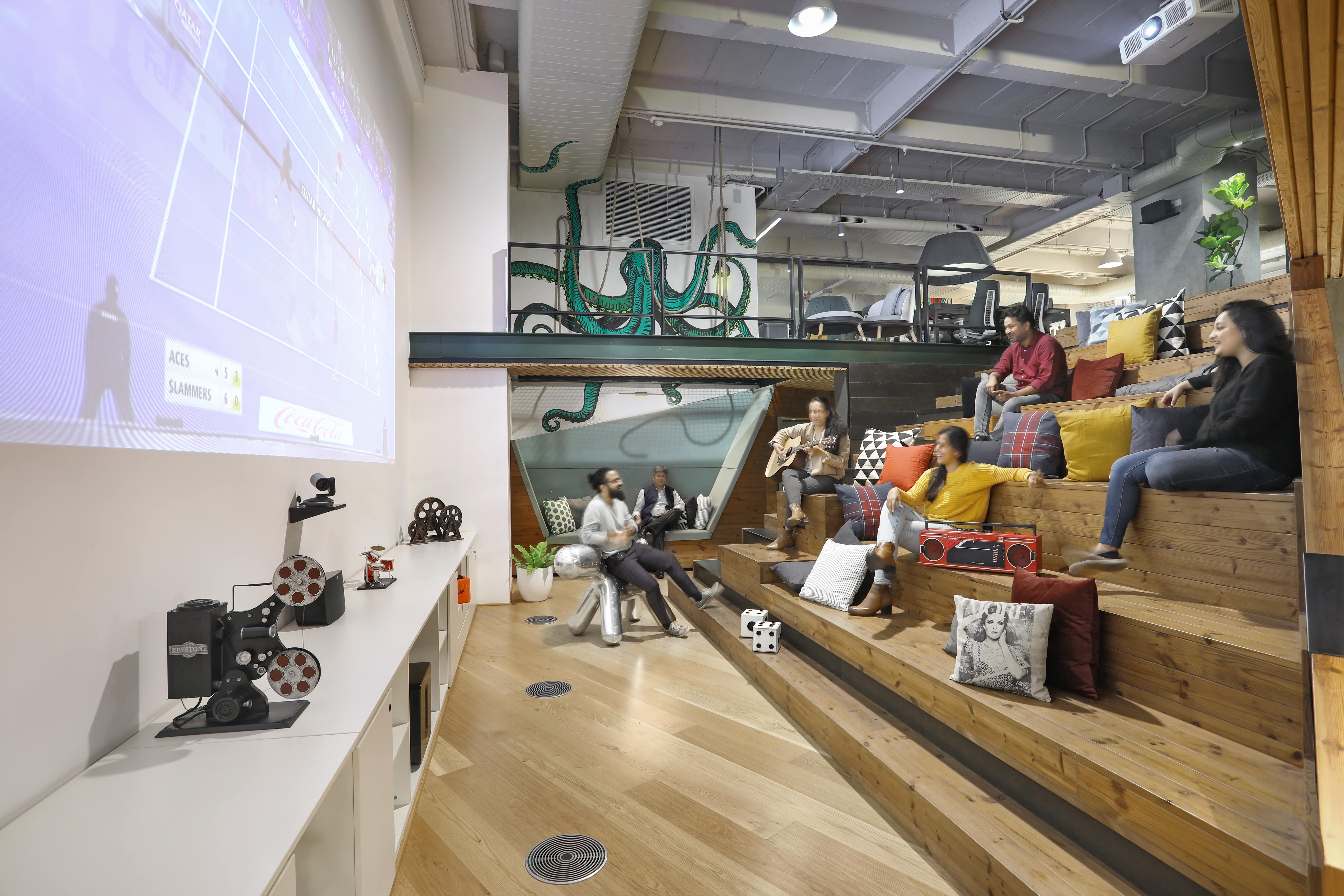 Space Matrix Beta Lab is an incubator workplace that is designed for hybrid work