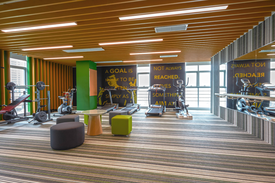 Firms are incorporating design and functional elements that address health and wellbeing at the workplace