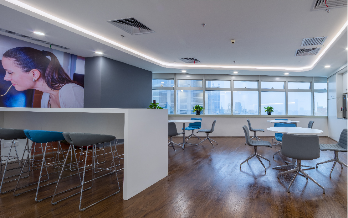 Abbott office in China designed by interior designers from Space Matrix