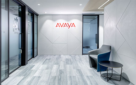 Integrated interior design services for Avaya in Hong Kong