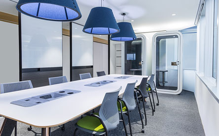 Avaya office in Hong Kong designed by interior designers from Space Matrix