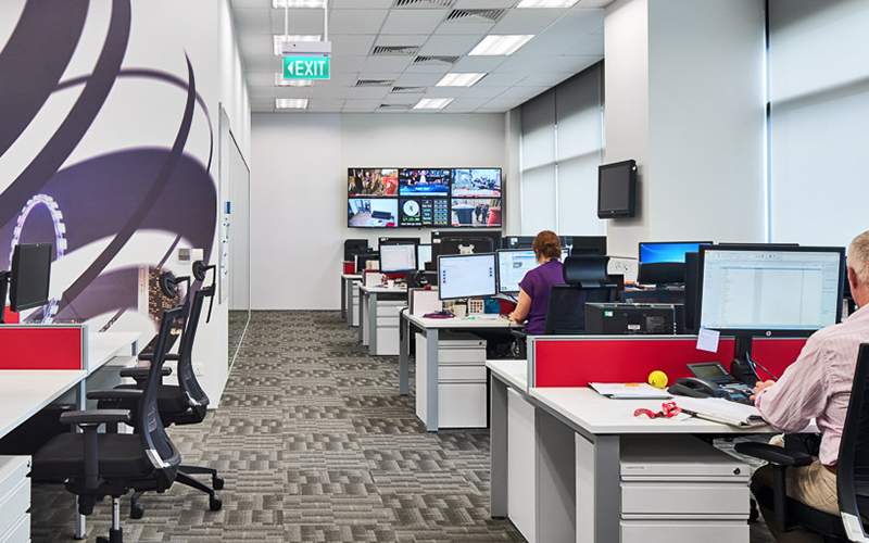 BBC office in Singapore designed by interior designers from Space Matrix