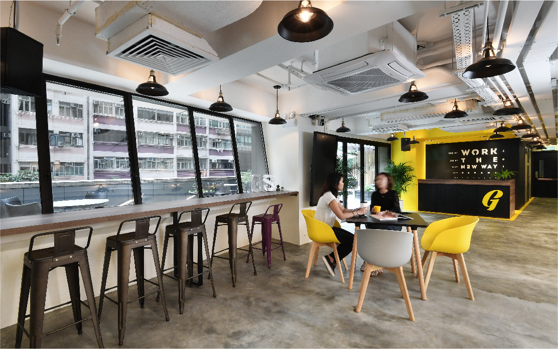 Creative office designs by Space Matrix for Garage Society