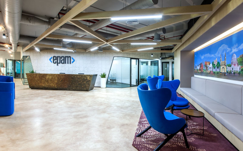Corporate office interiors for EPAM by Space Matrix