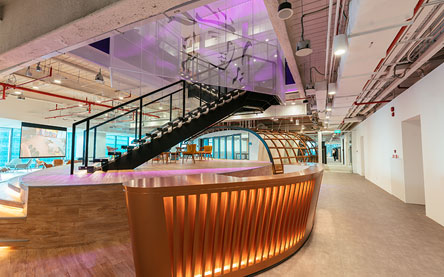 Prudential office in Singapore designed by interior designers from Space Matrix