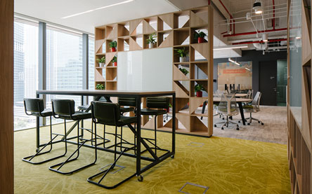 Interior design solutions by Space Matrix for Prudential Singapore
