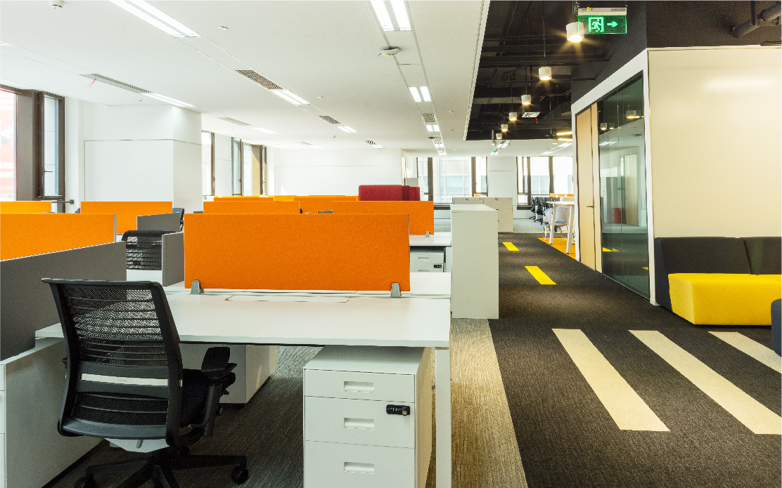 Corporate workplace design for SAP by Space Matrix