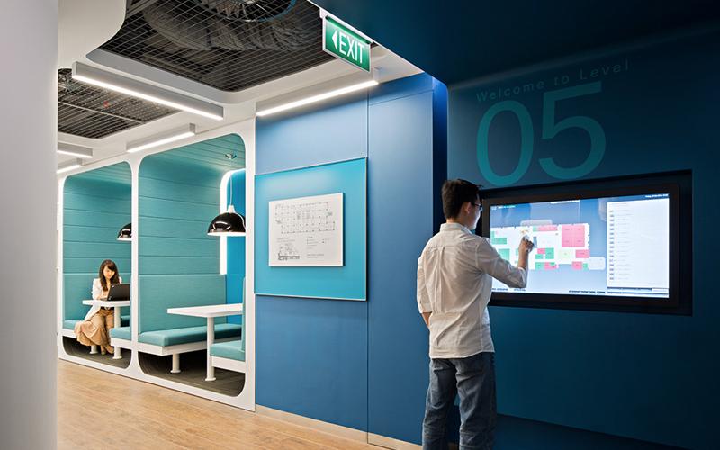 Workspace designs by Space Matrix
