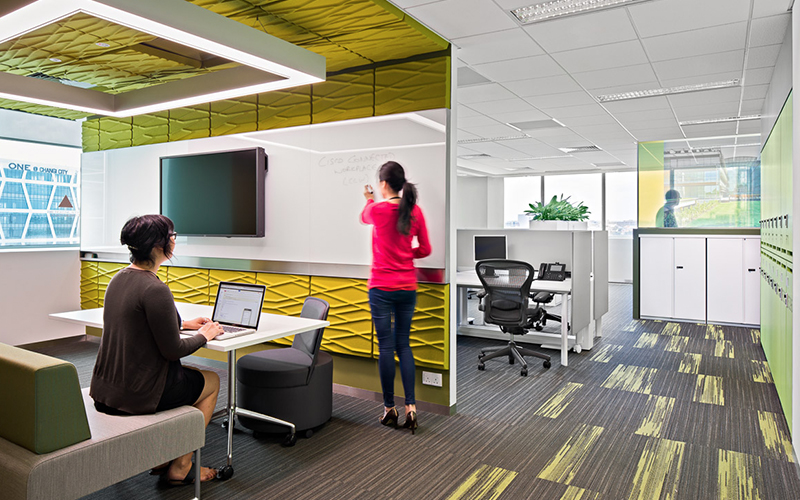Cisco office, designed by the best office interior design company