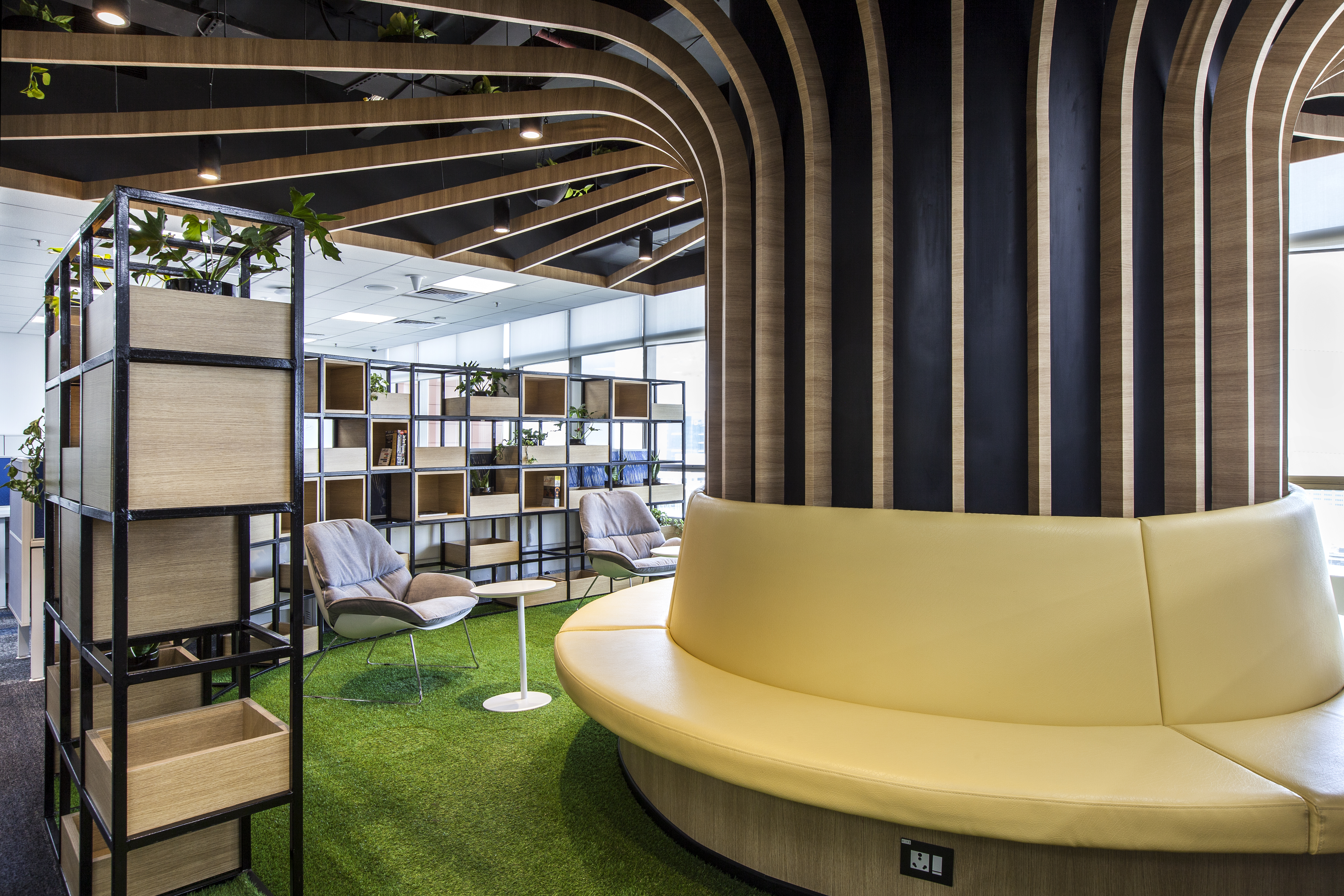 This pharma office designed its workspace to cater to the needs of its different departments