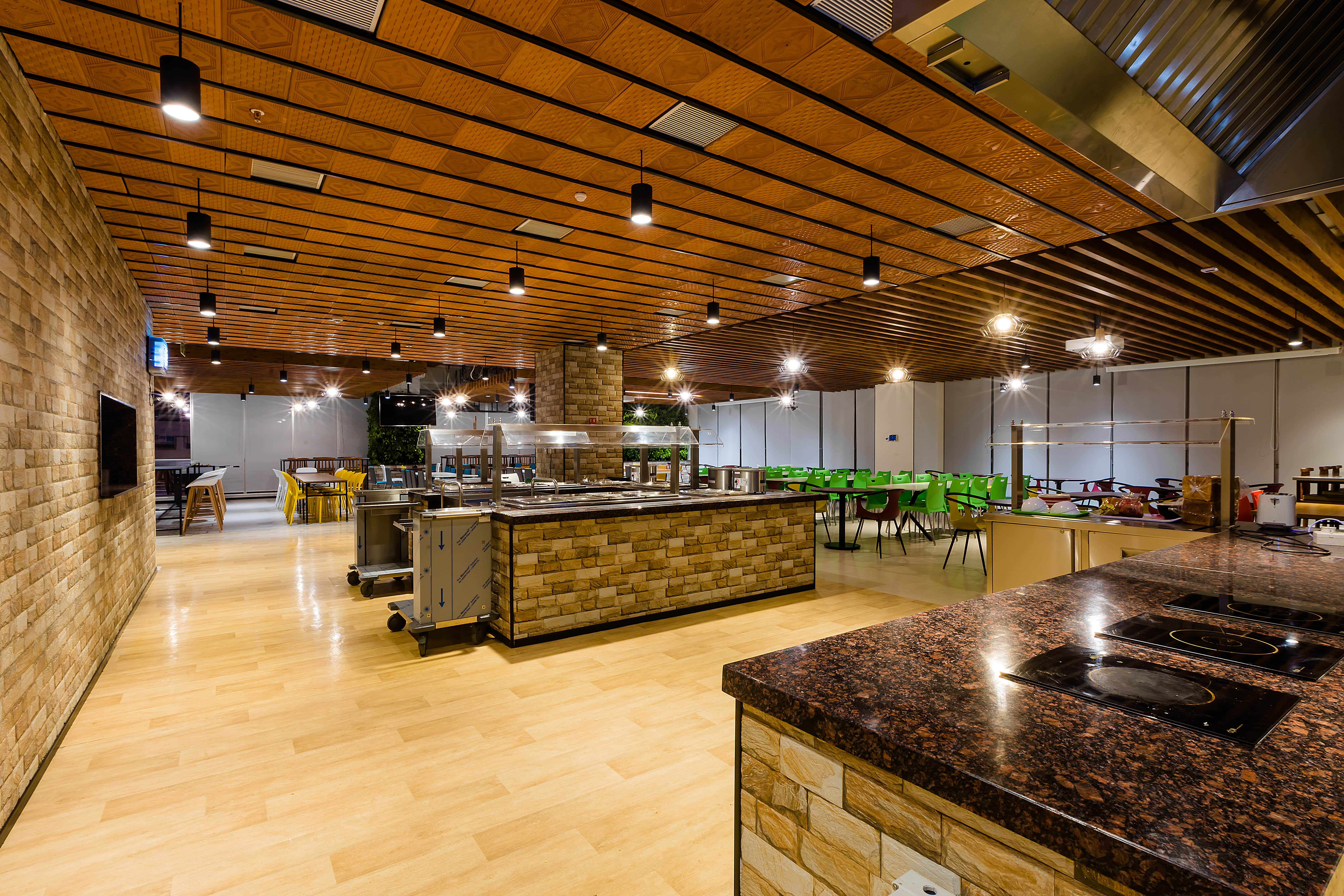 Workplace design and pantry details are meant to promote healthy eating choices